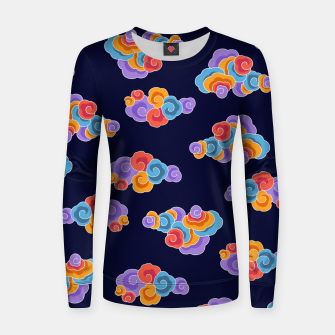 Classical cloud ornamentation Women sweater thumbnail image