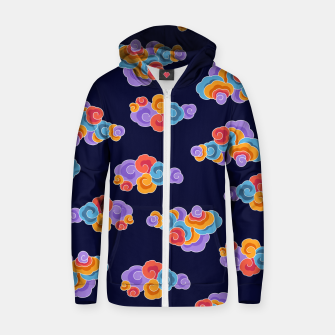 Classical cloud ornamentation Zip up hoodie thumbnail image