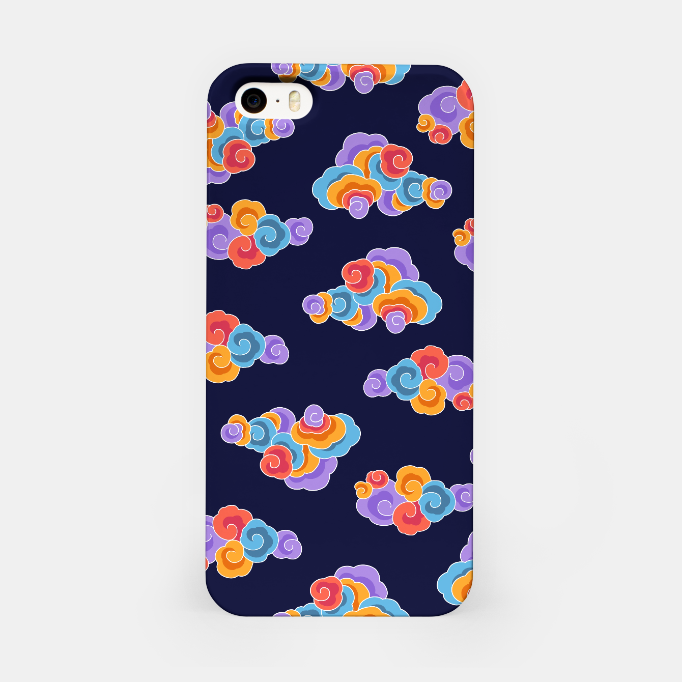 Image of Classical cloud ornamentation iPhone Case - Live Heroes