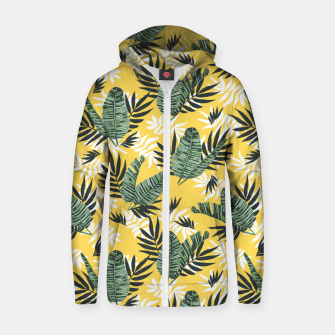 Hot tropical summer Sudadera con capucha y cremallera  miniature