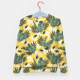 Hot tropical summer Sudadera para niños miniature