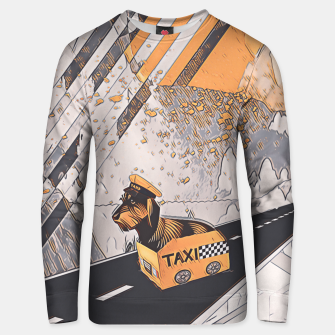 Yellow taxi Unisex sweater thumbnail image