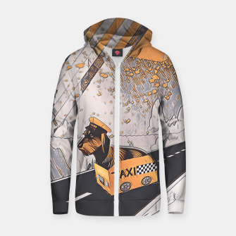Yellow taxi Zip up hoodie thumbnail image