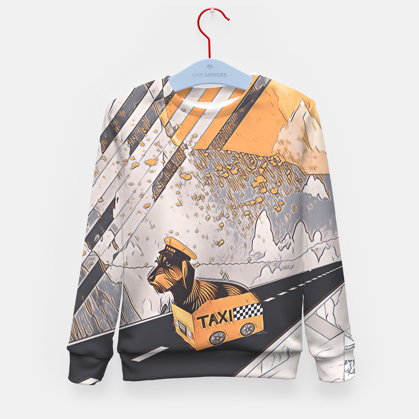 Image of Yellow taxi Kid's sweater - Live Heroes