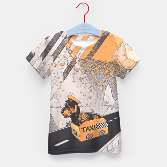 Thumbnail image of Yellow taxi Kid's t-shirt, Live Heroes