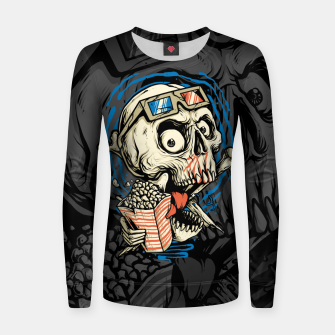 Thumbnail image of Skull Movie Women sweater, Live Heroes