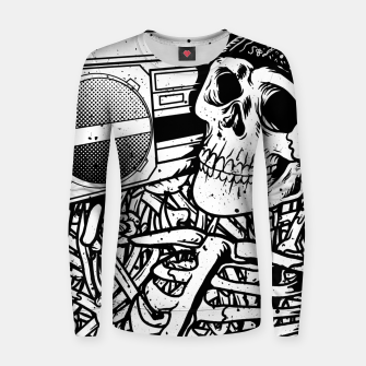 Thumbnail image of Boombox Skull Women sweater, Live Heroes