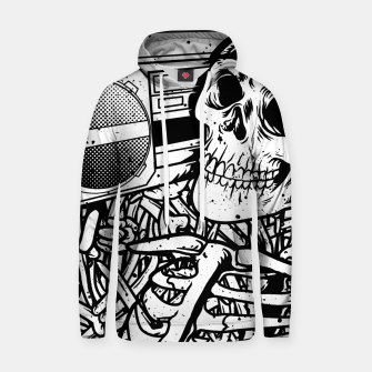 Thumbnail image of Boombox Skull Hoodie, Live Heroes