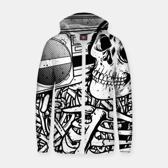 Thumbnail image of Boombox Skull Zip up hoodie, Live Heroes