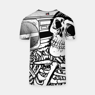 Thumbnail image of Boombox Skull T-shirt, Live Heroes