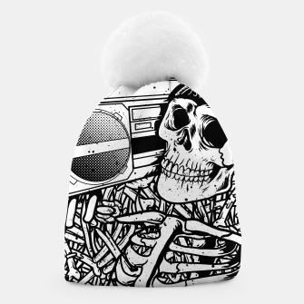 Thumbnail image of Boombox Skull Beanie, Live Heroes