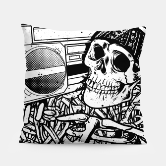 Thumbnail image of Boombox Skull Pillow, Live Heroes