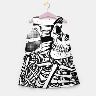 Thumbnail image of Boombox Skull Girl's summer dress, Live Heroes