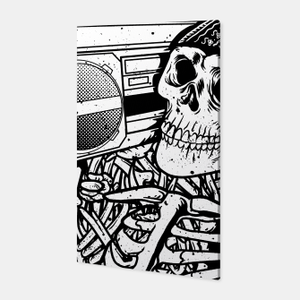 Thumbnail image of Boombox Skull Canvas, Live Heroes