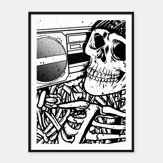 Thumbnail image of Boombox Skull Framed poster, Live Heroes