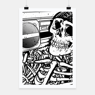 Thumbnail image of Boombox Skull Poster, Live Heroes