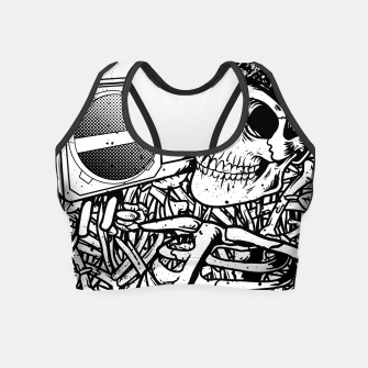 Thumbnail image of Boombox Skull Crop Top, Live Heroes