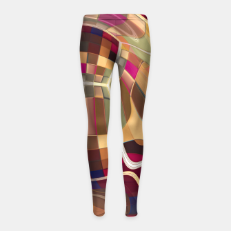 Thumbnail image of Inside Colors Girl's leggings, Live Heroes