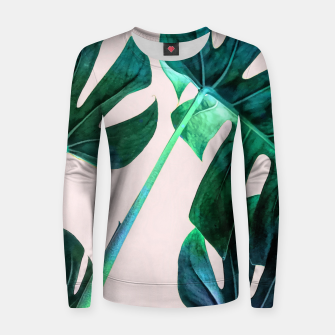 Thumbnail image of Wild Leaves Women sweater, Live Heroes
