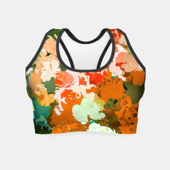 Thumbnail image of Velvet Floral Crop Top, Live Heroes