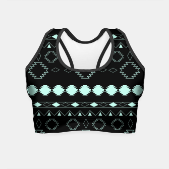 Thumbnail image of Tribal Boho Pattern Chic #3 #aztec #decor #art  Crop Top, Live Heroes