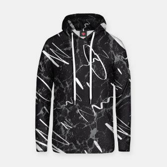 Thumbnail image of Gray Black Marble White Abstract Glam #1 #trendy #decor #art Kapuzenpullover, Live Heroes
