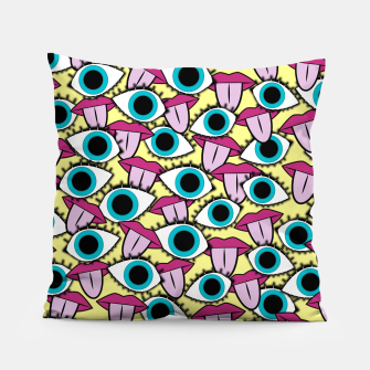 Eyes Open Tongues Out Pillow thumbnail image