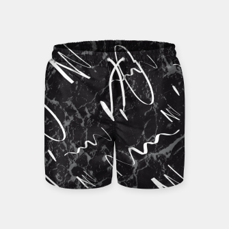 Thumbnail image of Gray Black Marble White Abstract Glam #1 #trendy #decor #art Badeshorts, Live Heroes