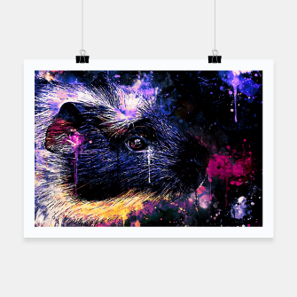 Thumbnail image of guinea pig colorful side portrait wsls Poster, Live Heroes