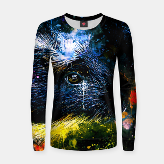 Thumbnail image of guinea pig colorful side portrait wsstd Women sweater, Live Heroes