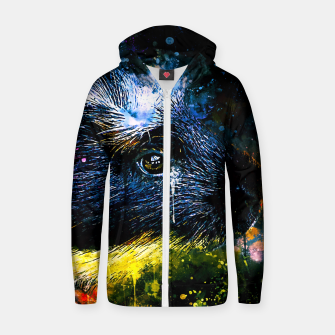 Thumbnail image of guinea pig colorful side portrait wsstd Zip up hoodie, Live Heroes