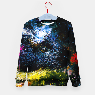 Thumbnail image of guinea pig colorful side portrait wsstd Kid's sweater, Live Heroes