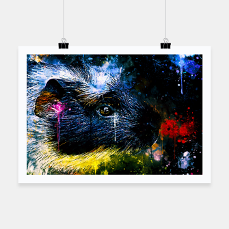 Thumbnail image of guinea pig colorful side portrait wsstd Poster, Live Heroes