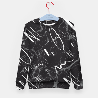 Thumbnail image of Gray Black Marble White Abstract Glam #1 #trendy #decor #art Kindersweatshirt, Live Heroes