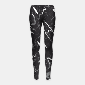 Thumbnail image of Gray Black Marble White Abstract Glam #1 #trendy #decor #art Kinder-Leggins, Live Heroes