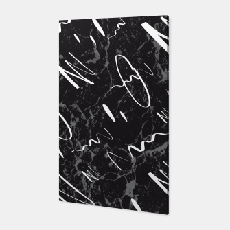 Thumbnail image of Gray Black Marble White Abstract Glam #1 #trendy #decor #art Canvas, Live Heroes
