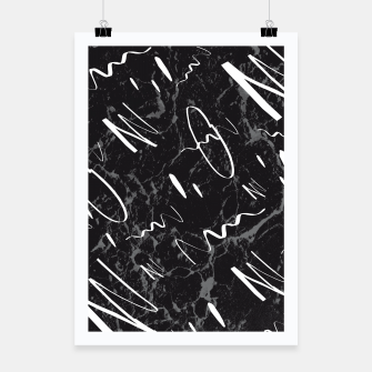 Miniatur Gray Black Marble White Abstract Glam #1 #trendy #decor #art Plakat, Live Heroes