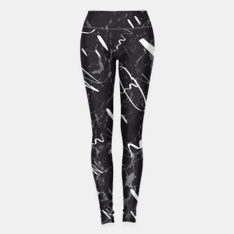 Thumbnail image of Gray Black Marble White Abstract Glam #1 #trendy #decor #art Leggings, Live Heroes
