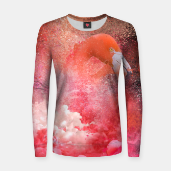Miniatur Splashing Flamingo Women sweater, Live Heroes