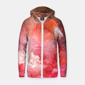 Miniatur Splashing Flamingo Zip up hoodie, Live Heroes