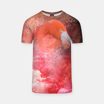Miniatur Splashing Flamingo T-shirt, Live Heroes