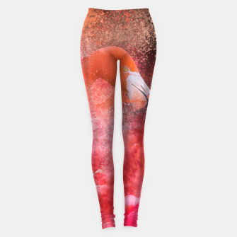 Miniatur Splashing Flamingo Leggings, Live Heroes