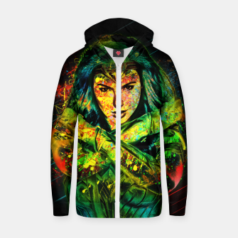 Thumbnail image of Wonder Woman Zip up hoodie, Live Heroes