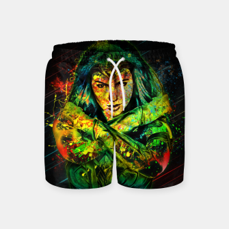 Thumbnail image of Wonder Woman Swim Shorts, Live Heroes