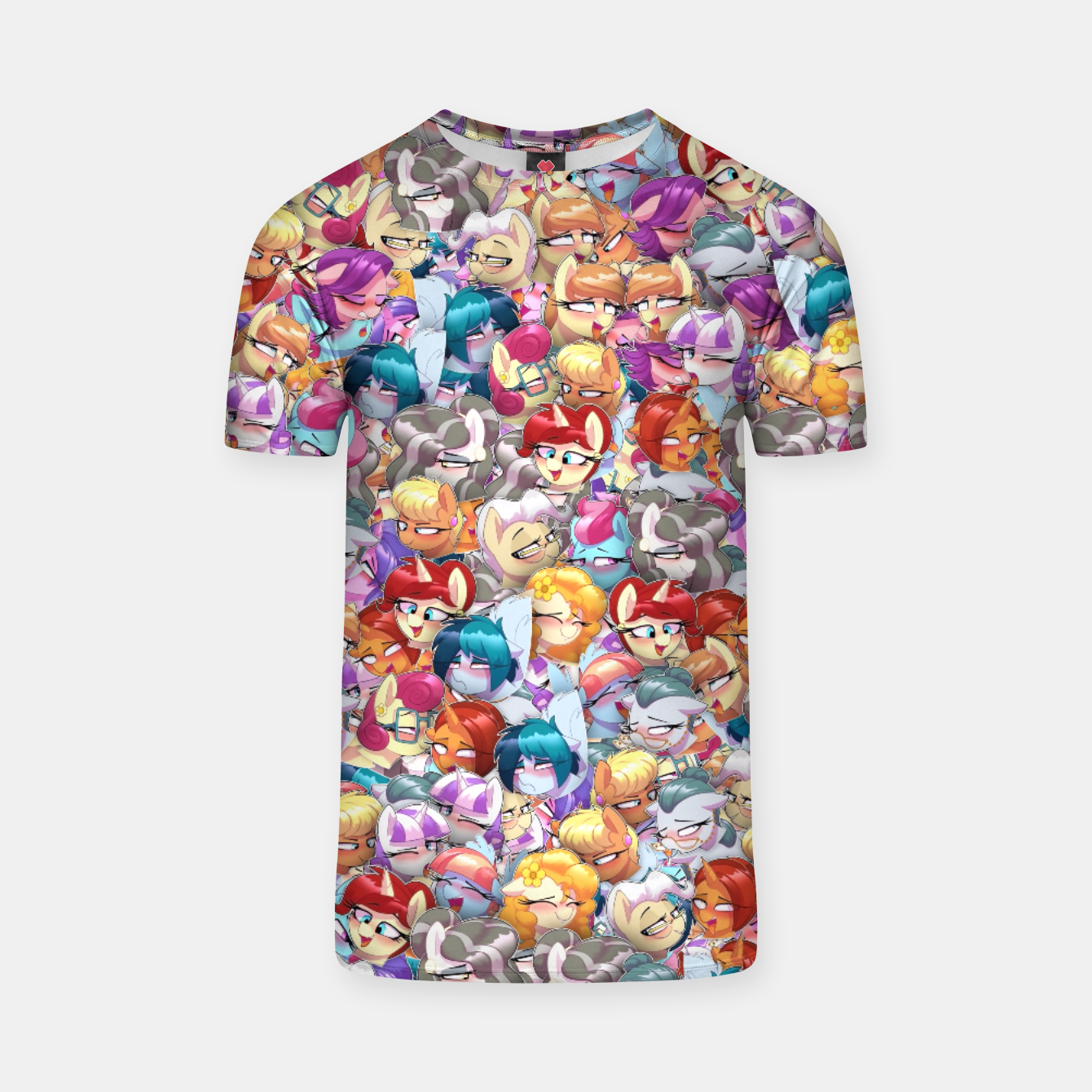 Image of MLP ahegao T-shirt - Live Heroes