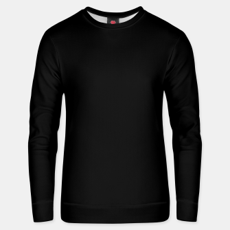 Thumbnail image of Solid Dark Jet Black Unisex sweater, Live Heroes