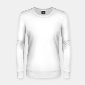 Thumbnail image of Solid Bright White  Women sweater, Live Heroes