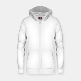 Thumbnail image of Solid Bright White  Zip up hoodie, Live Heroes