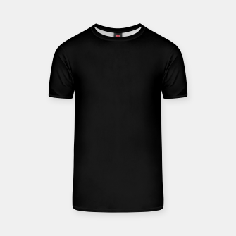 Thumbnail image of Solid Dark Jet Black T-shirt, Live Heroes