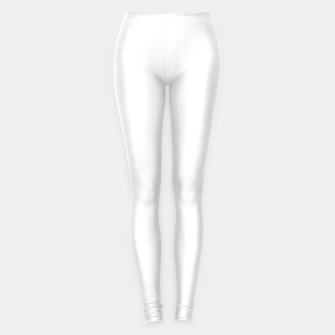 Thumbnail image of Solid Bright White  Leggings, Live Heroes